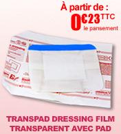 Transparent Dressing Film adhésif transparent avec compresse
