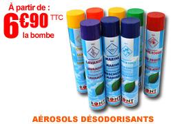 Aérosols désodorisants anti-odeurs