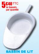 Bassin de lit forme pantoufle