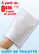 Gants de toilette non tissés absorbants à usage unique 75 grammes