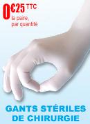 Gants de chirurgie latex poudrés stériles Robé Médical