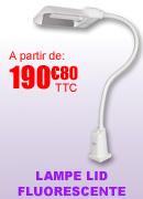 Lampe fluorescente 2200 Lux avec piètement à roulettes - Flora LID