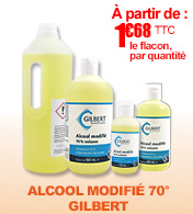 Alcool GILBERT modifié 70% materiel medical