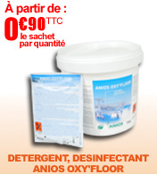 D�tergent, d�sinfectant sols et surface ANIOS OXY'FLOOR materiel medical