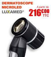 Dermatoscope LUXAMED nouvelle génération MicroLED 2.5V LuxaScope materiel medical