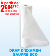 Draps d'examen gaufr� biod�gradable ROBE m�dical materiel medical