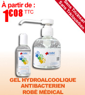 Gel hydroalcoolique ROBE MEDICAL materiel medical