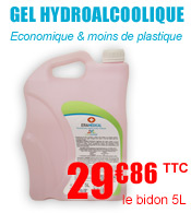 Gel hydroalcoolique ERAMEDICAL - Bidon de 5L materiel medical