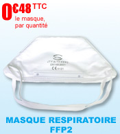 Masque respiratoire FFP2 anti contamination forme bec pliable EN 149:2001 materiel medical