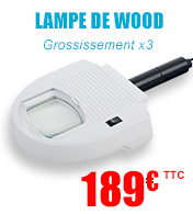 Lampe de Wood avec grossissement 3X materiel medical