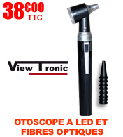 Otoscope éclairage LED et fibres optiques BF200 VIEWTRONIC materiel medical