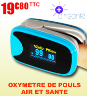Oxym�tre saturom�tre digital avec coque de protection AS-1002 AIR ET SANTE  materiel medical