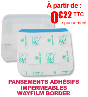 Pansement absorbant adhésif imperméable WAYFILM BORDER - 5 x 7 cm materiel medical