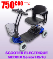 Scooter �lectrique 4 roues pliable MEDDIX Senior HS-18 autonomie 10 km materiel medical