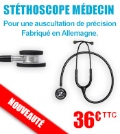 Stéthoscope Médecin Sonus SX double pavillon LUXAMED  materiel medical
