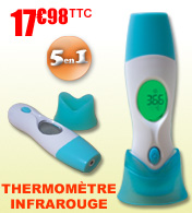 Thermom�tre m�dical infrarouge 5 en 1 Fahrenheit M�dical materiel medical
