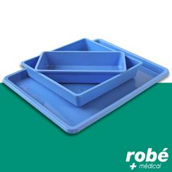 plateaux plastique bleu st rilisables en vente chez rob mat riel m dical. Black Bedroom Furniture Sets. Home Design Ideas