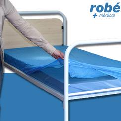 prot ge matelas plastifi imperm able jetable en vente chez rob mat riel m dical. Black Bedroom Furniture Sets. Home Design Ideas