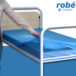 Prot ge matelas plastifi imperm able jetable en vente for Protege matelas jetable