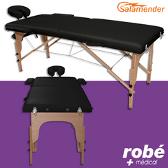 Table de massage pliante en bois Noir Salamender