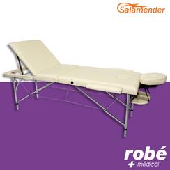table de massage pliante aluminium 3 parties largeur 70 cm cr me salamender en vente chez rob. Black Bedroom Furniture Sets. Home Design Ideas