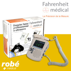 Doppler fœtal professionnel ultrasons 2MHz FD300C Fahrenheit Médical