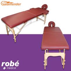 pliante massage en Burgundy 60 de largeur Table Salamender bois cm tshQdCorxB