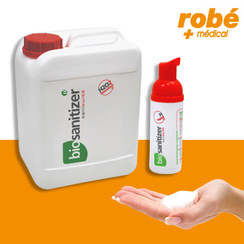 Lotion moussante non irritante pour la désinfection des mains Saniswiss biosanitizer H - Pocket