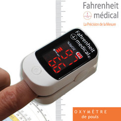Oxymètre saturomètre digital avec coque de protection MECA 110XS FAHRENHEIT MEDICAL