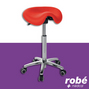 Tabouret-selle Cavalry forme derby pietement metal