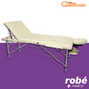 Table de massage pliante aluminium 3 parties largeur 70 cm Creme Salamender