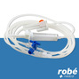 Perfuseur gravite robinet 3 voies embout Luer Lock mobile BD CAREFUSION