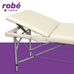 Table de massage pliante aluminium 3 parties largeur 70 cm Crème Salamender