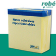 Blocs de notes repositionnables 400 feuilles 75x75 mm