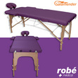 Table de massage pliante en bois largeur 60 ou 70 cm Prune Salamender
