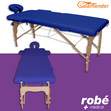 Table de massage pliante en bois largeur 60 cm Bleu Salamender