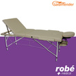 Table de massage pliante alu 3 parties largeur 70 cm Gris Salamender