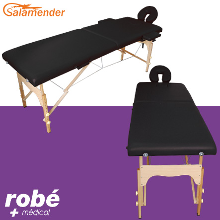 table de massage pliante en bois largeur 60 ou 70 cm noir salamender tables de massage. Black Bedroom Furniture Sets. Home Design Ideas