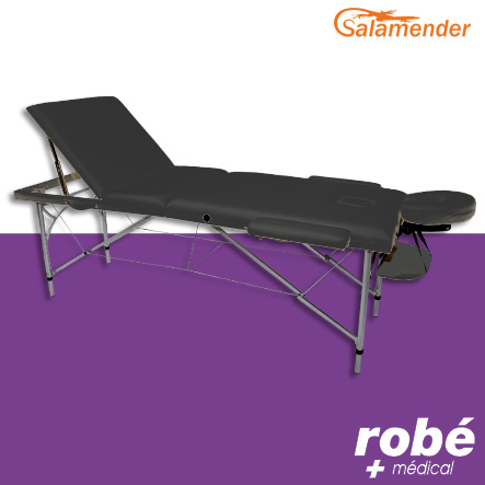 table de massage pliante aluminium 3 parties largeur 70 cm noir salamender tables de massage. Black Bedroom Furniture Sets. Home Design Ideas