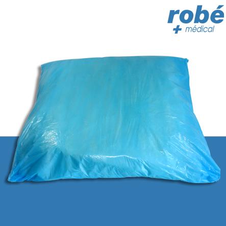 Prot ge oreiller plastifi imperm able et jetable 60 x 70 cm al ses et housses rob vente - Protege matelas plastifie ...