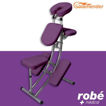 chaise de massage pliante ergonomique s225 prune salamender chaises de massage rob vente. Black Bedroom Furniture Sets. Home Design Ideas