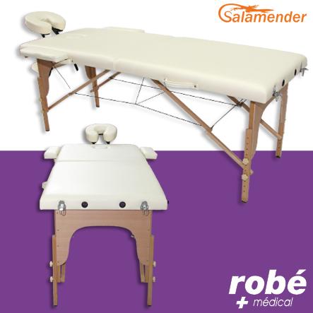 table de massage pliante en bois largeur 60 ou 70 cm cr me salamender tables de massage. Black Bedroom Furniture Sets. Home Design Ideas