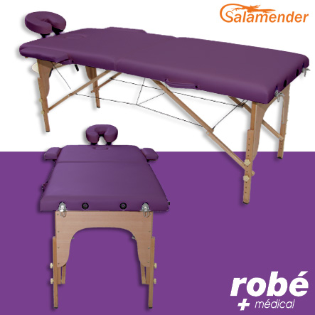 Table de massage pliante en bois largeur 60 ou 70 cm prune salamender tables de massage - Ou acheter table de massage ...