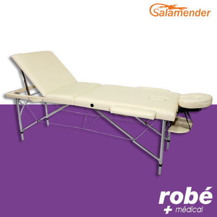 table de massage pliante aluminium 3 parties largeur 70 cm. Black Bedroom Furniture Sets. Home Design Ideas