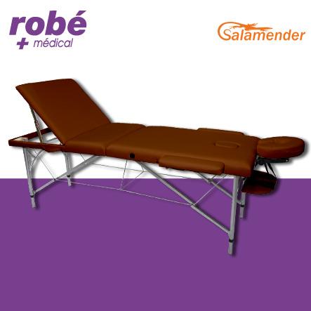 table de massage pliante aluminium 3 parties largeur 70 cm havane salamender tables de massage. Black Bedroom Furniture Sets. Home Design Ideas