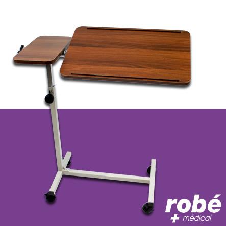 table de lit mobile roulettes avec double plateaux. Black Bedroom Furniture Sets. Home Design Ideas