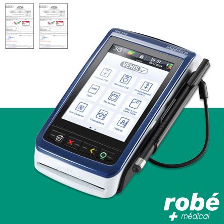 Lecteur de carte vitale et paiement CB nomade connectivité 3G VEHIS - Lecteurs bifente nomade ...